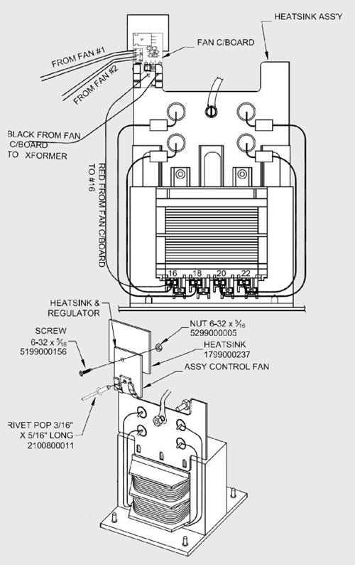 2299001651 Schumacher Heatsink Rectifier Assembly