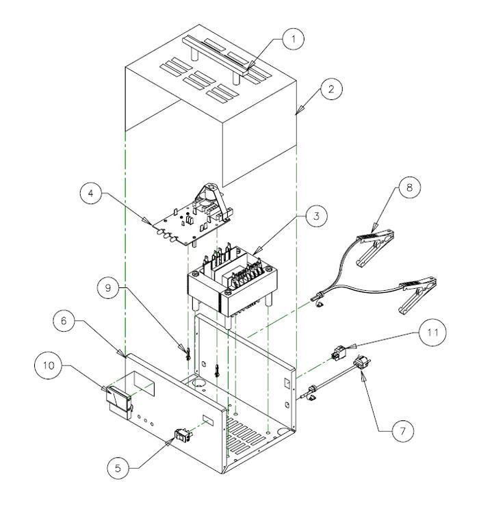 9520 associated battery charger parts list. Black Bedroom Furniture Sets. Home Design Ideas