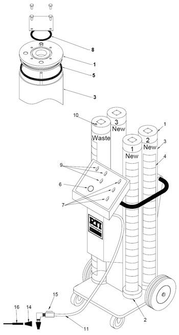 VCX-4 RTI Coolant Exchange Unit Parts (035-81446-00) Green ...