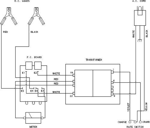 Schumacher a battery charger schematic