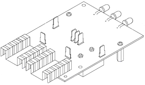 610747 associated battery charger circuit board
