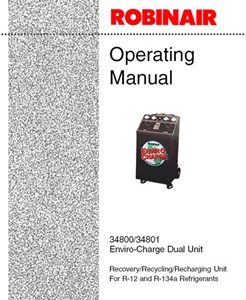 120974 robinair operating manual for 34800 recovery recycling rh centurytool net Robinair AC Machine Robinair 34788 Parts