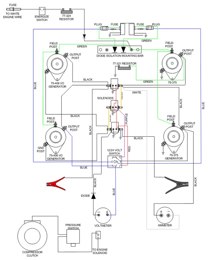 11-622 goodall start-all 12 - 24 volt gasoline engine ... 12 volt air compressor starter wiring diagram sanborn air compressor motors wiring diagram