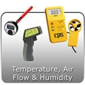 Temperature, Air Flow & Humidity