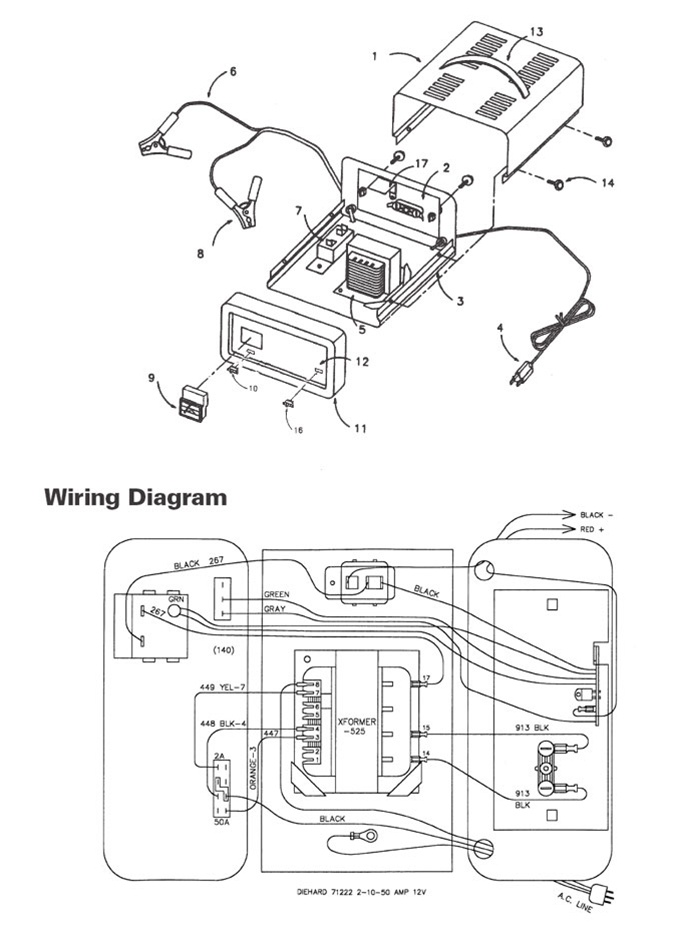 schumacher battery charger wiring diagram model