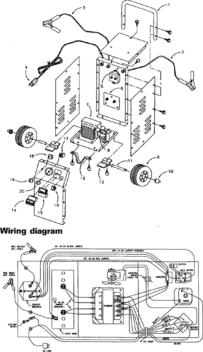 Diagram Of Century Wire Feed Welder Parts on wiring diagram for ezgo golf cart