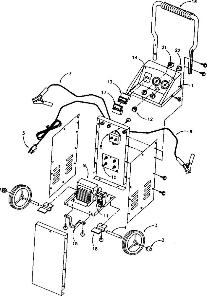 200.71460lg 71460 sears 60 20 2 250 125 amp manual battery charger dayton 12v battery charger wiring diagram at gsmportal.co