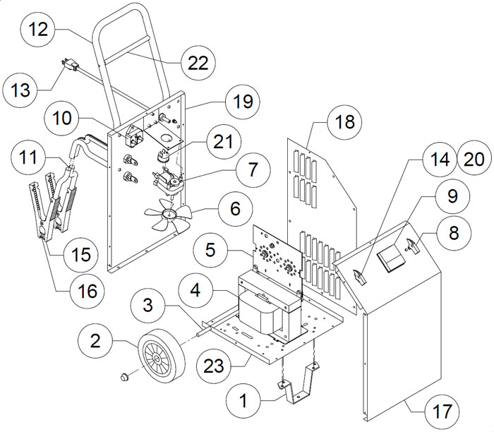 6006 Associated Battery Charger Parts List