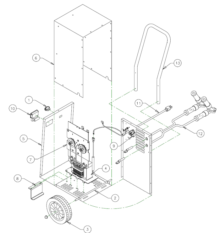 6017 associated battery charger parts list