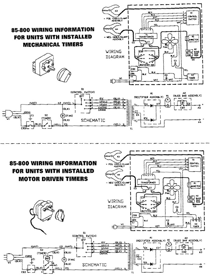 chicago battery charger wiring schematic