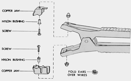 610970 associated 500 amp jaw kit  repairs one clamp
