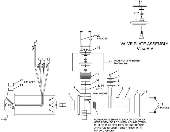 Stinger Recovery Unit Parts  Square Head Compressor