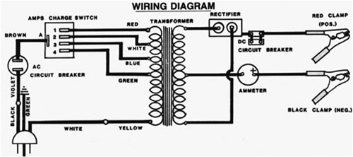 transformer wiring diagram battery charger