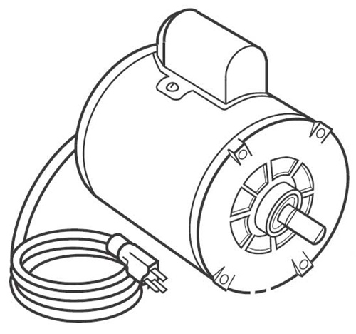 Pr 207 Jb Industries 12 Hp 115230v 5060 Cycle Motor Wswitch And