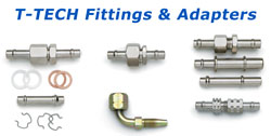 t tech transmission flush machine fittings
